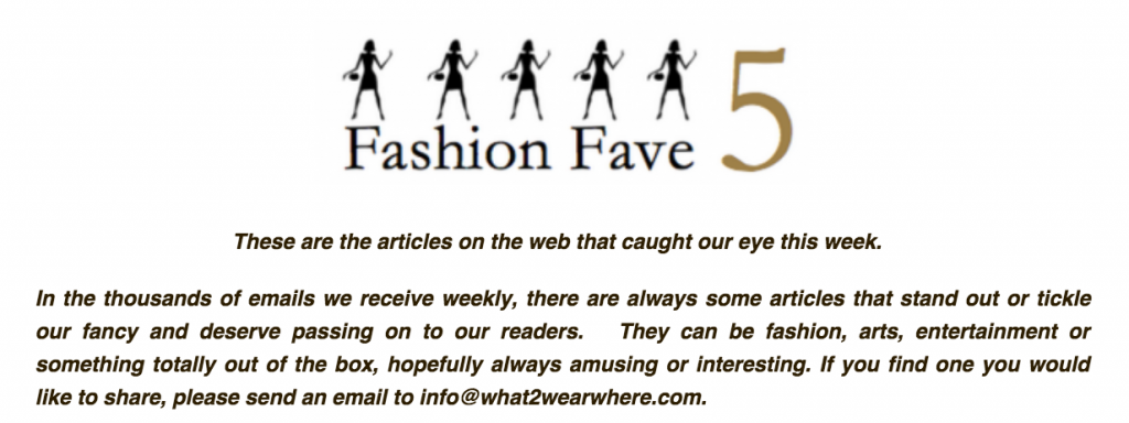 Fashion Fave 5