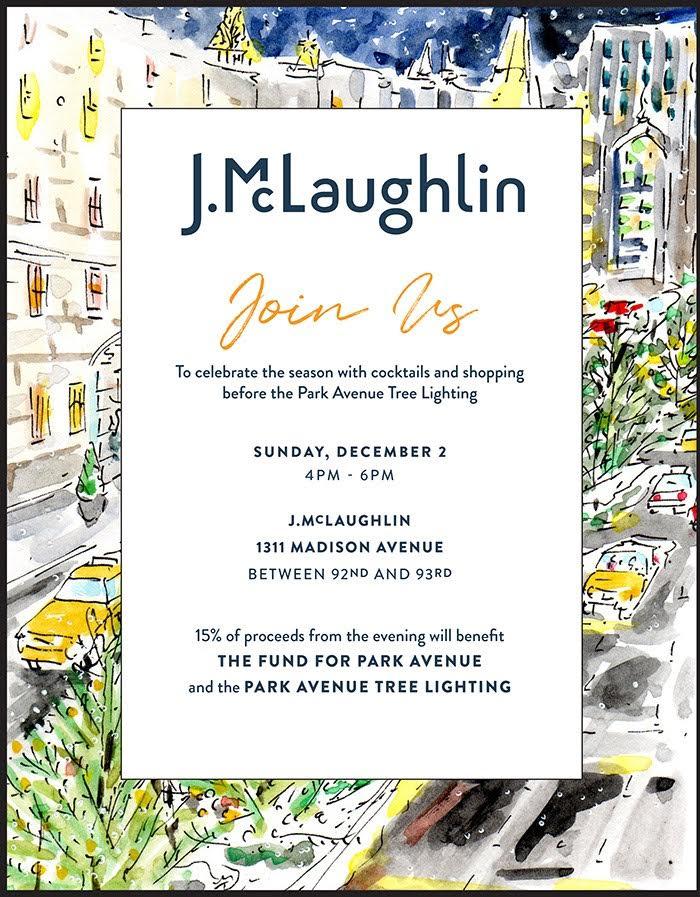 J. McLaughlin, What to wear, Park Avenue Tree Lighting, Fund for Park Avenue, Brick Church Karen Klopp, fashion advice