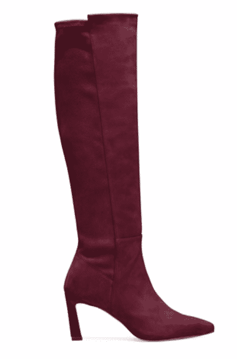 maroon knee high boots