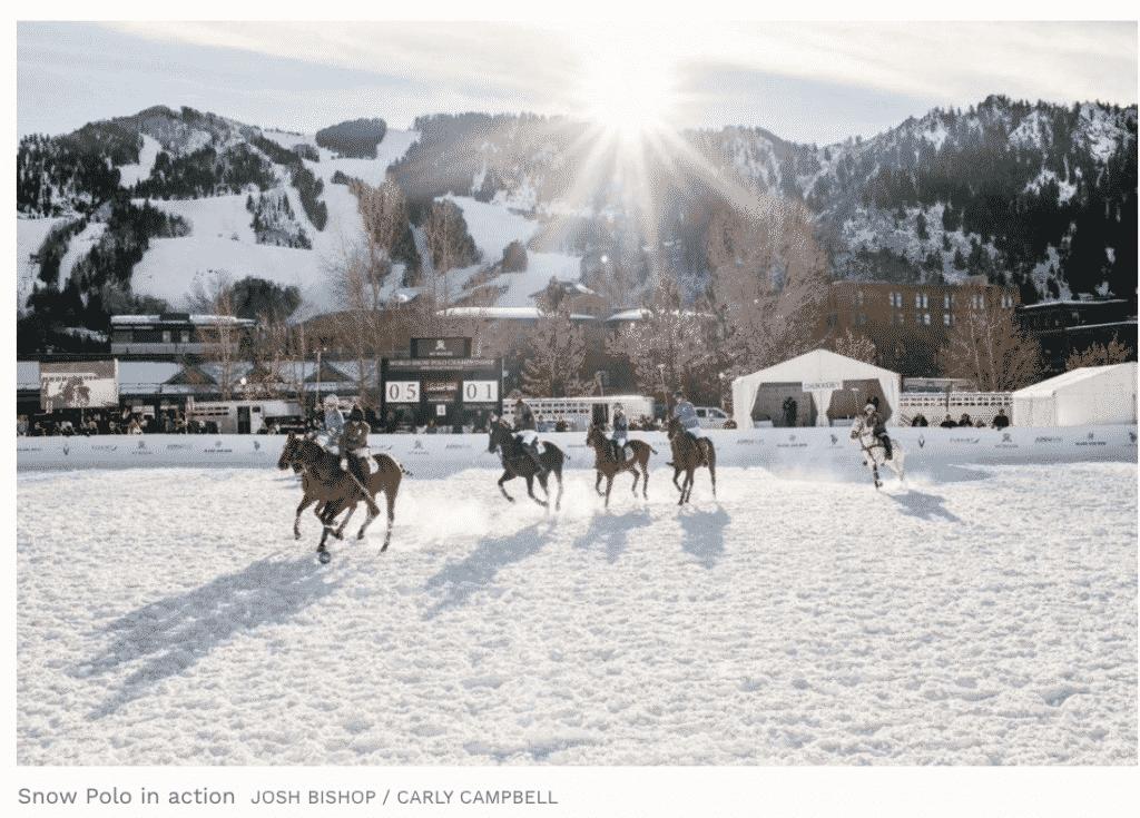 Forbes Magazine Apsen  Snow Polo