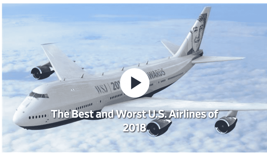 Wall Street Journal: Best and Worst U.S. Airlines of 2018