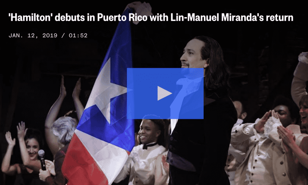 Hamilton Puerto Rico Debut