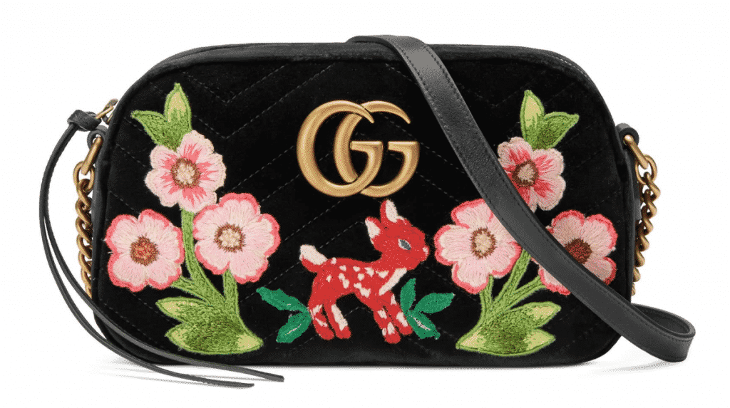 Gucci Small GG Marmont Velvet Shoulder
