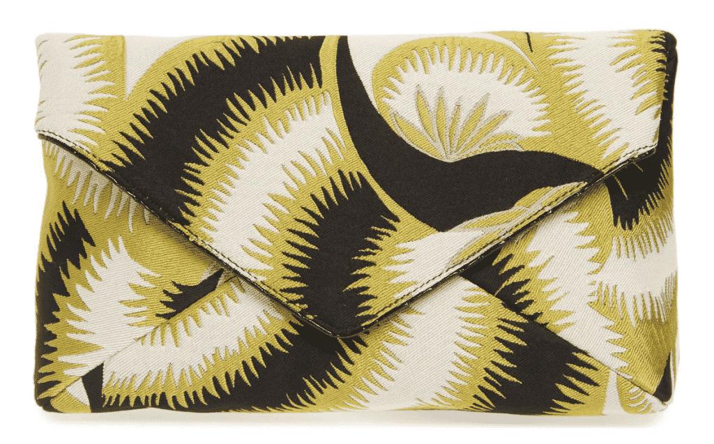 Floral Jacquard Envelope Clutch