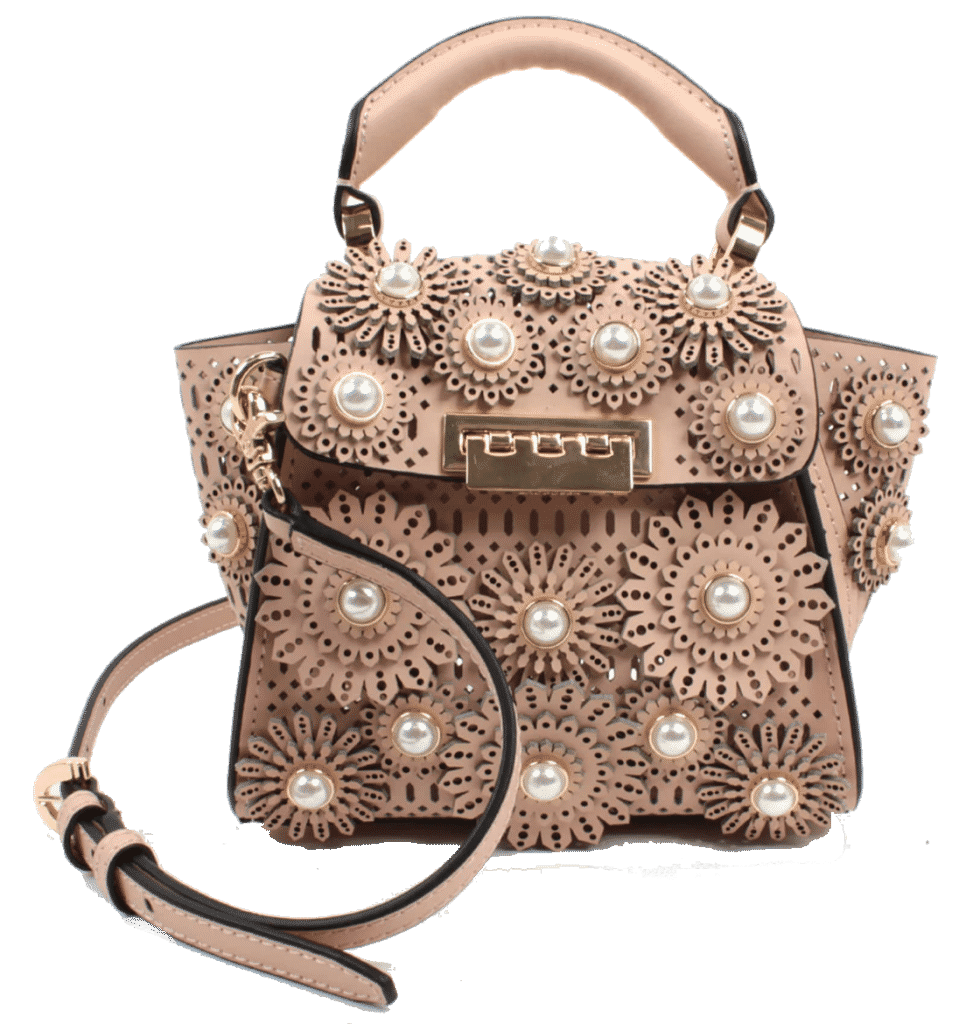 Zac Zac Posen Mini Eartha Imitation Pearl & Floral
