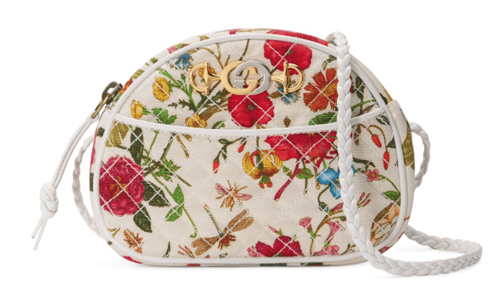 Gucci Quilted Floral Print Dome Crossbody