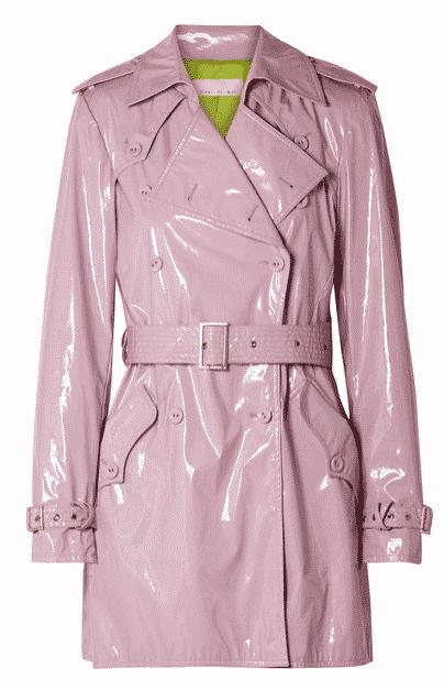 Rains Fleur Du Mal Pvc Pink Trench Coat