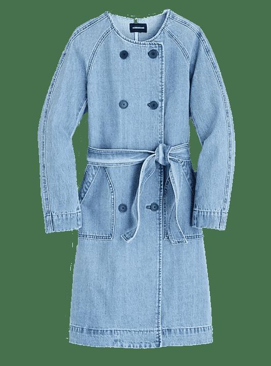 J. Crew Denim Collarless Coat