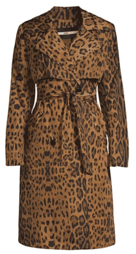 Jane Post Italian Leopard Storm Trench Coat