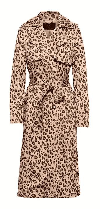 Leopard Print Maxi Rain Coat