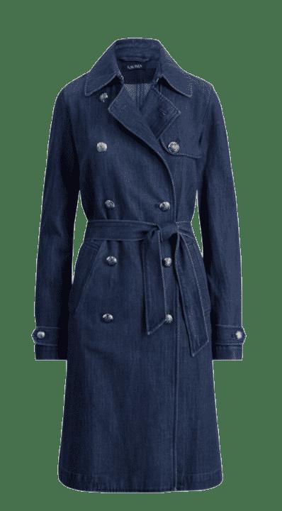 Ralph Lauren Belted Demin Trench Coat