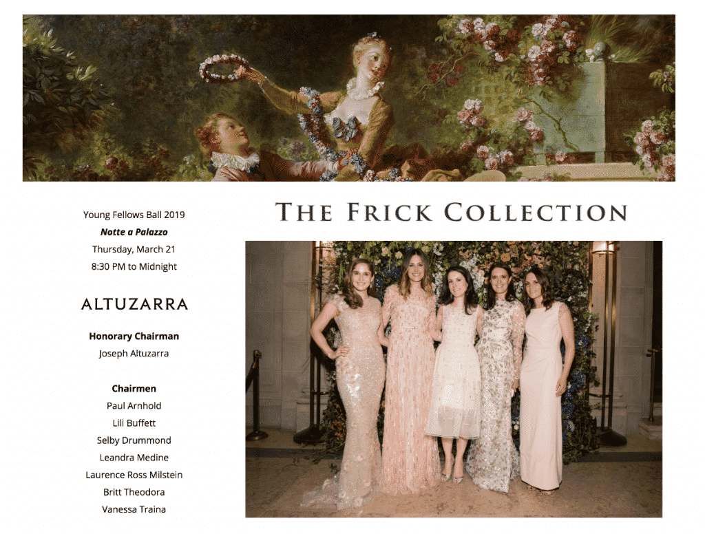 The Frick Collection Young Fellows Ball