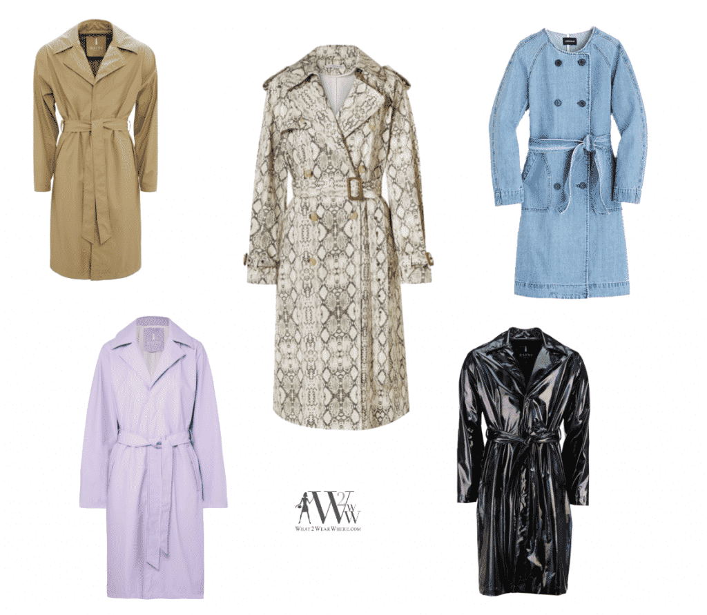 Spring Trench Coats, What2WearWhere