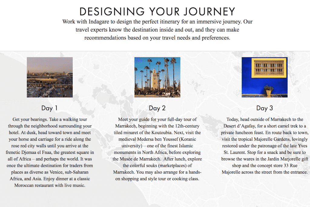 Indagare designs your journey to Morocco.