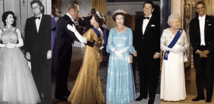 Town & Country Queen Elizabeth with US Presidents.