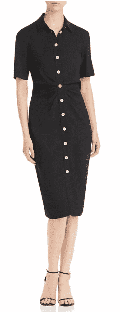 what to wear to new york city Restaurant week Kate Spade black shirtdress