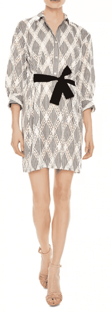 what to wear new york city restaurant week . Sandro patterned shirt dress