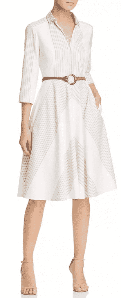 What to wear new york city  restaurant week, Elie Tahari Belted Shirt Dress.