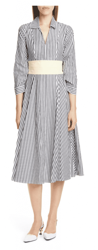 what to wear new york city restaurant week harper  striped shirtdress
