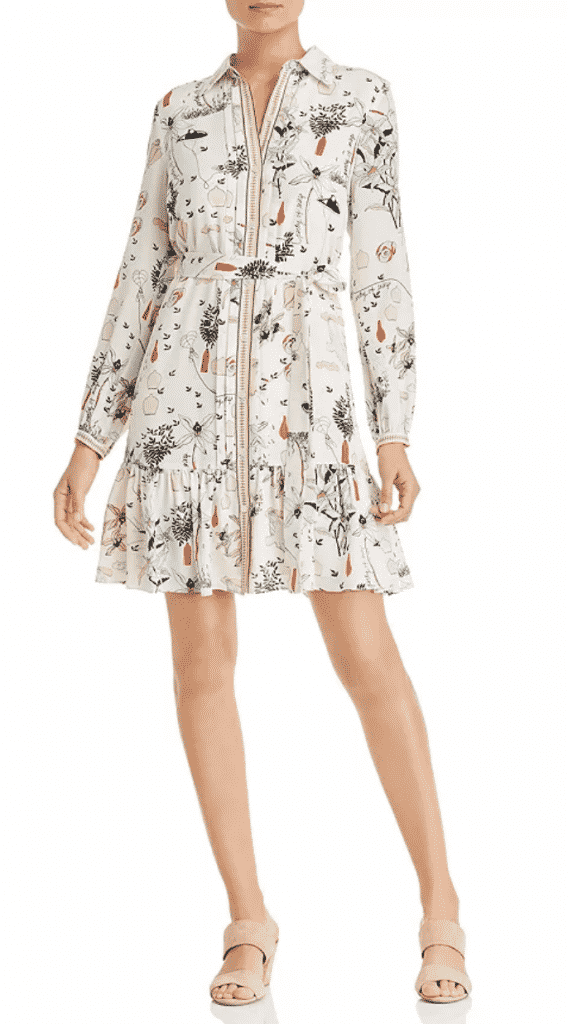 what to wear restaurant week new york city, tory burch silk print shirt dress.