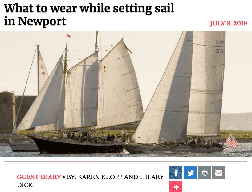 New York Social Diary, what to wear 12 Metre Championship Newport, Rhode Island, Karen Klopp, HIlary Dick.