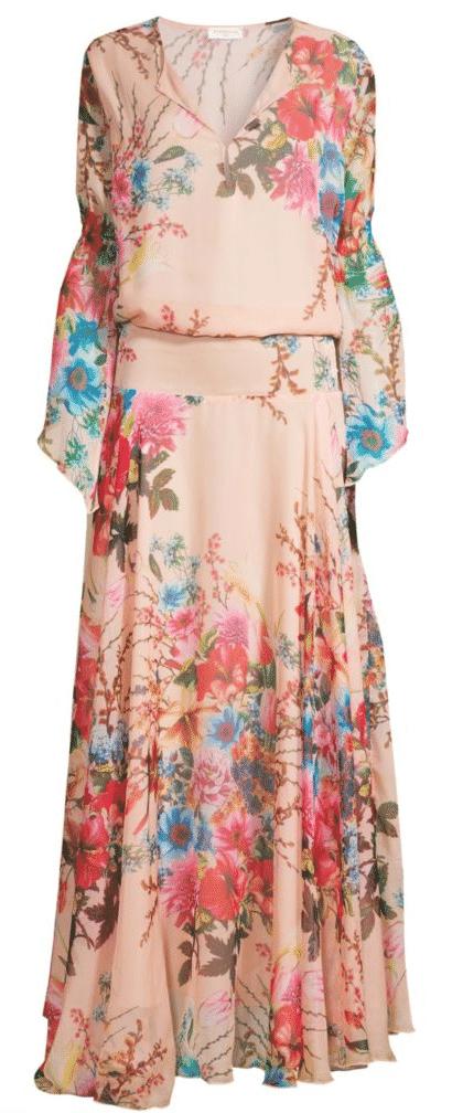 what to wear destination wedding beach chiffon blouson gown