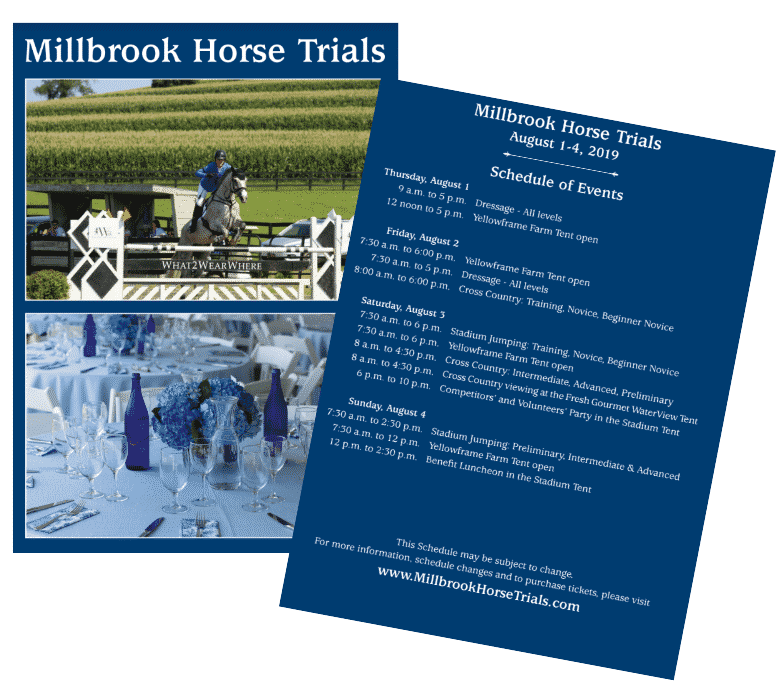 Invitation to the Millbrook Horse Trials, Millbrook New York