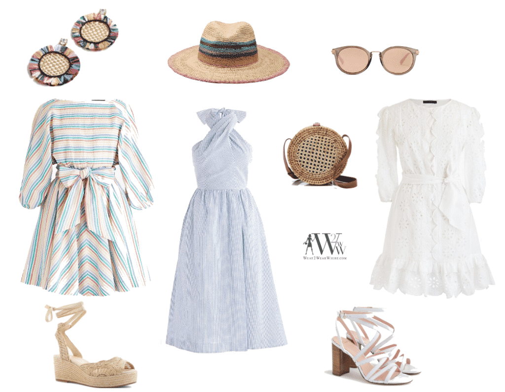 What to wear to the Millbrook Horse Trials Luncheon?   Here are a selection of summer dress from J. Crew.