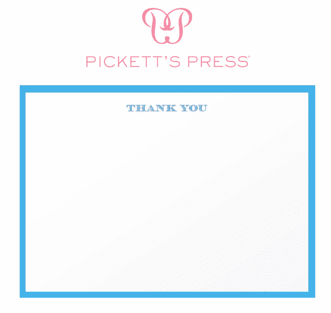 Pickett's Press boxed thank you notes for article on How to be a Good House Guest.
