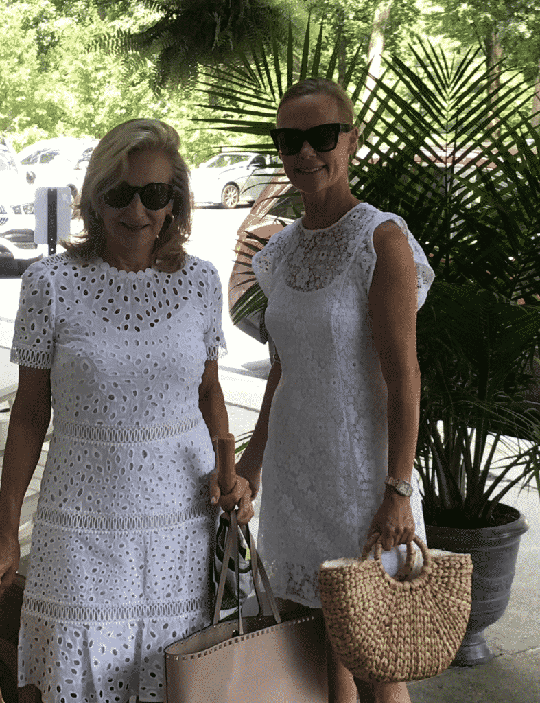 Karen Klopp and Hilary Dick in Saratoga in August for the races.