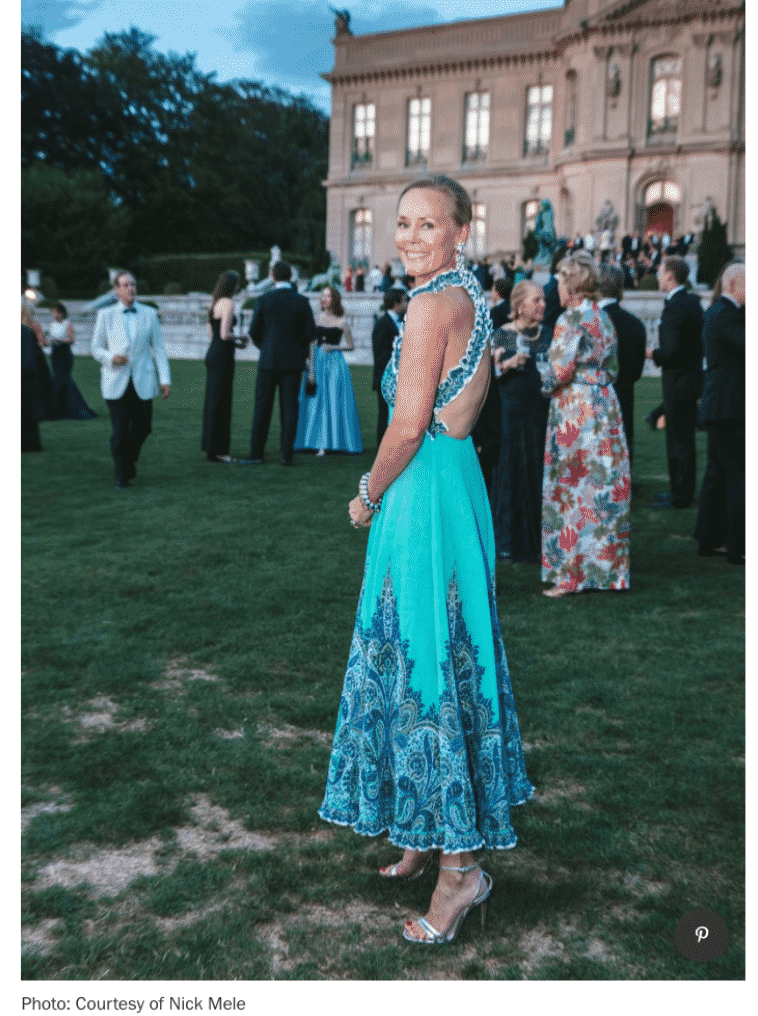 Hilary Dick.   Vogue take you to inside The Preservation Society Of New[port's Annual Gala.
