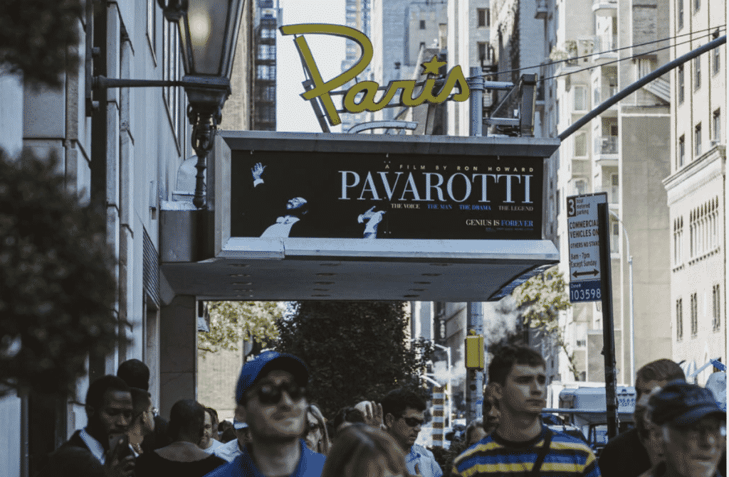 New York Times article. The Paris Theater Closes