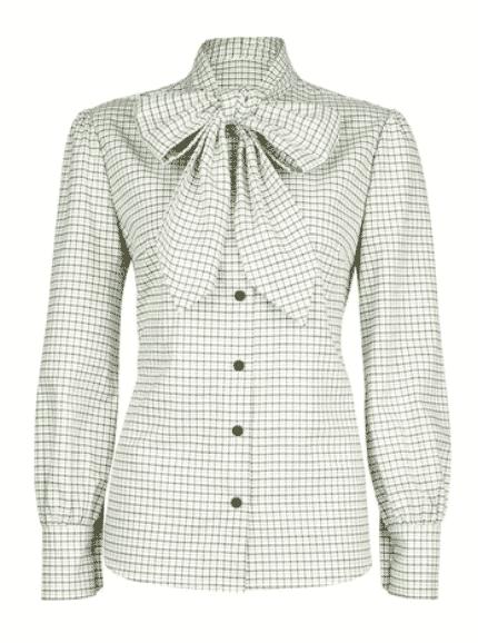 TROY London by Rosie Van Cutsem a windowpane check shirt.