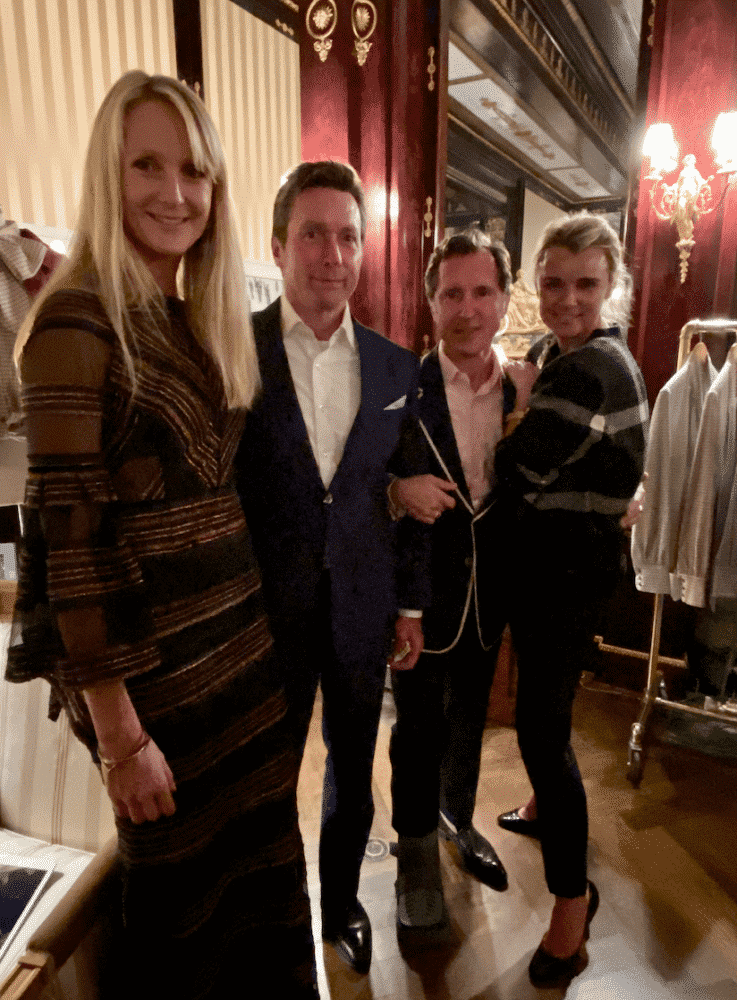 Rosie van Cutsem, Michael Bassett, Darren Henault, Alison Aston at party for TROY LONDON.