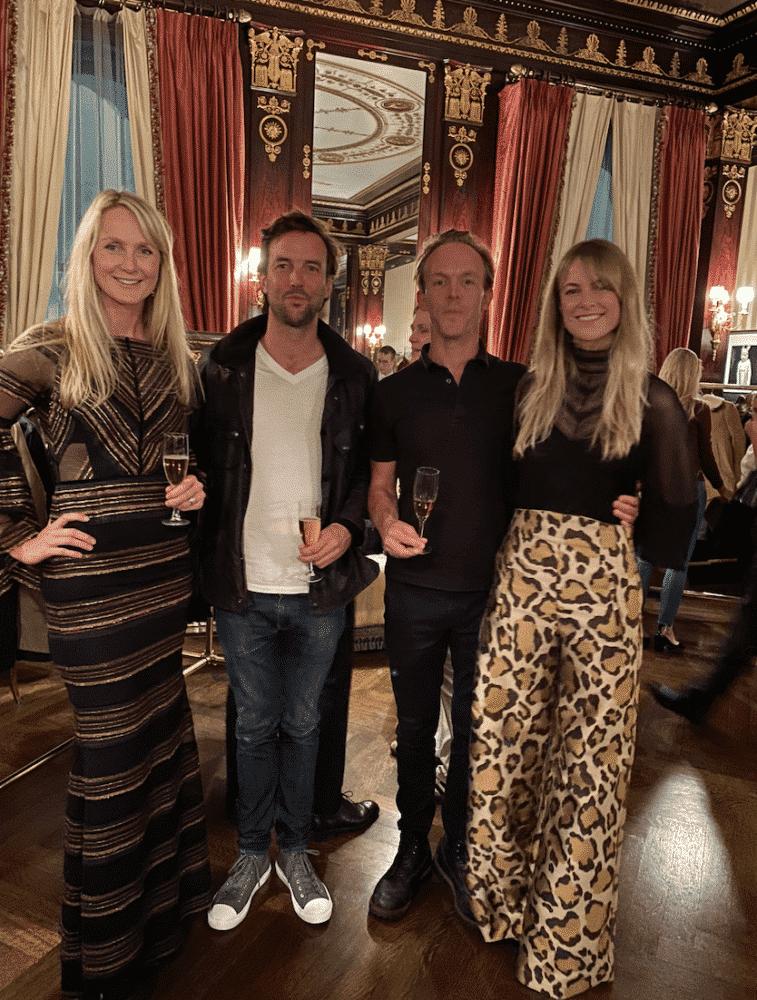 Rosie Van Cutsem of Troy London at a party at Darren Henault.