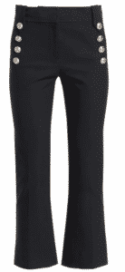 Derek Lam 10 Cropped Flare Pants. one of 5 black pants for your wardrobe.