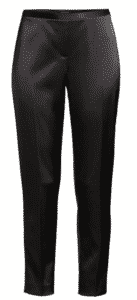 Elie Tahari satin ankle pants.   Wear to dinner and cocktail parties.