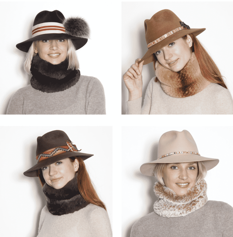 Glamourpussnyc has a great assortment of fall and winter wool felt hats trimmed with pom pom as other things.