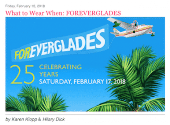 Karen Klopp & Hillary Dick invite you to celebrate 25 years of the Everglades Foundation in Palm Beach, Florida.