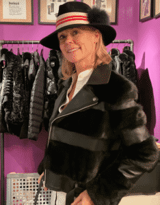 Hilary Dick is wearing Glamourpuss hat and jacket