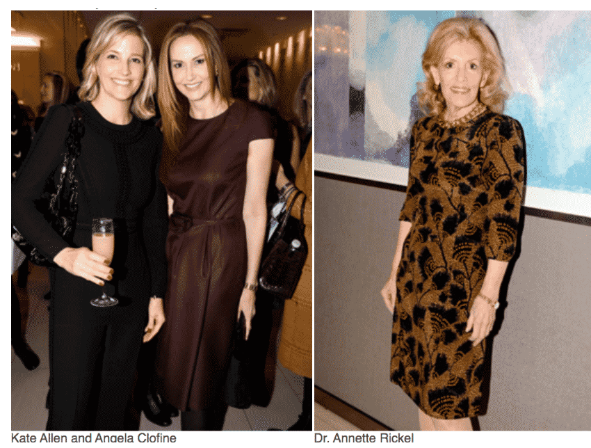 The Society Memorial Sloan Kettering Opening Night at TEFAF.  Kate Allen, Anaela Clofine, Dr.Annette Rickel