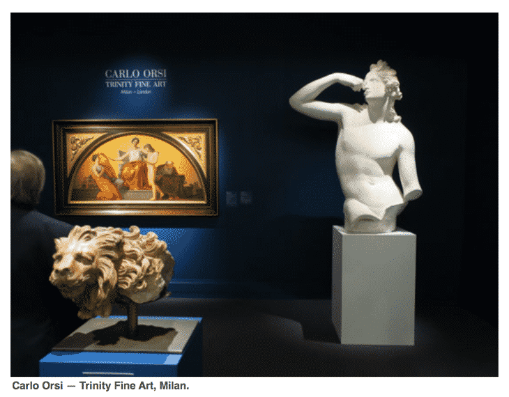 The Society Memorial Sloan Kettering Opening Night at TEFAF.  Carlo Orsi Gallery