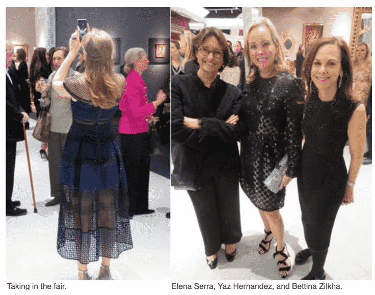 The Society Memorial Sloan Kettering Opening Night at TEFAF.  Elena Serra, Yaz Hernandez. Bettina Zilkha