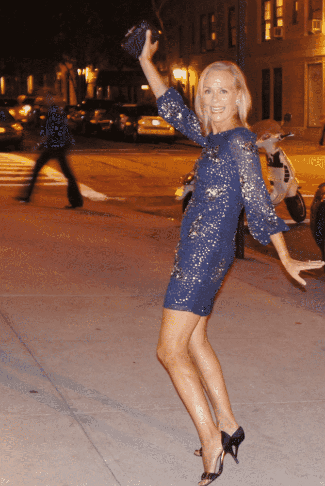 Hilary Dick of What2WearWhere sparkles with a festive dress from Rent the Runway.